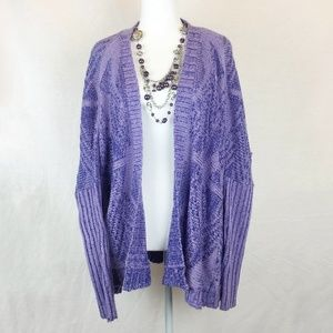 Urban Outfitters *Sparkle & Fade* Purple Cardigan